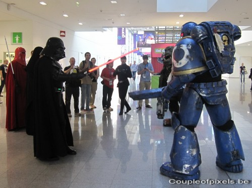 gamescom 2011,photos,insolite,cosplay, dark vador, warhammer