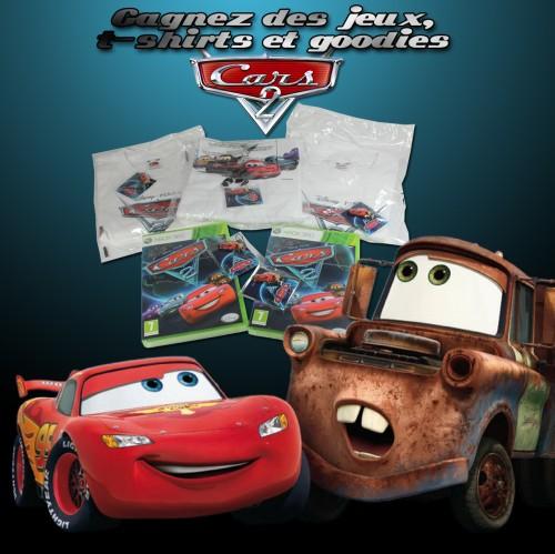 concours,cars 2,jeu-vidéo,xbox360,t-shirt,goodies