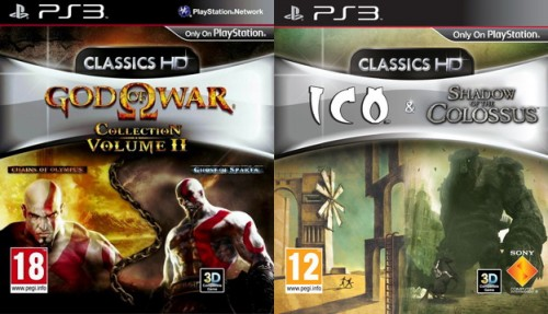 god of war,god of war hd collection,ico,shadow of the colossus,ps3