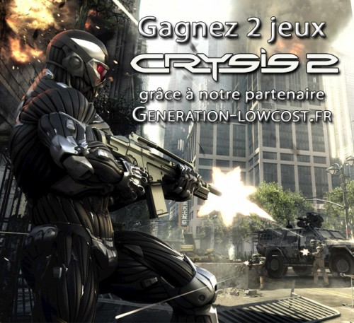 crysis 2,concours,gagnants,generation-lowcost.fr