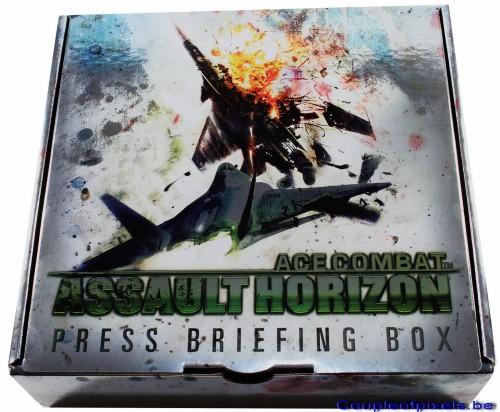 ace combat assault horizon,kit presse,déballage,namco