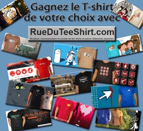 rue du tshirt, concours, gagner, t-shirt