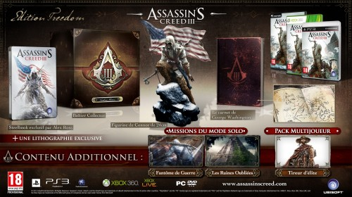 assassin's creed 3,collector,ps3,xbox360,pc,ubisoft,assassin's creed