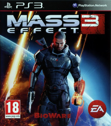 Mass Effect 3, jaquette, PS3