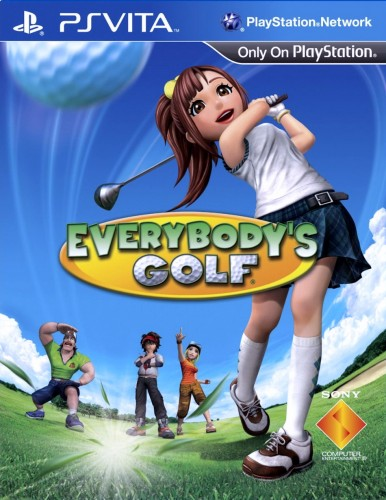 everybody's golf,ps vita, jaquette