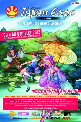 Japan Expo 2012, japan expo, salon, affiche
