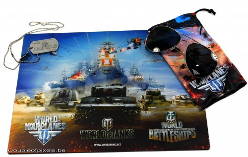 e3 2012,goodies,wargaming.net, world of tanks, lunettes, tapis de souris