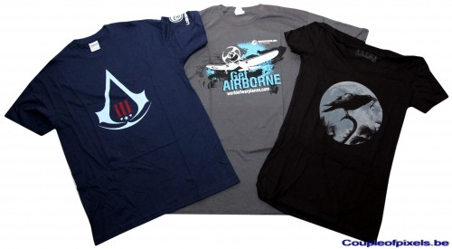 e3 2012,goodies,t-shirt,assassin's Creed 3, world of warplanes, raven's Cry