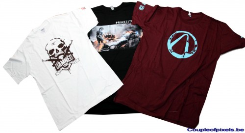 e3 2012,goodies,t-shirt, spec ops : the line, metal gear rising revengeance, borderlands 2