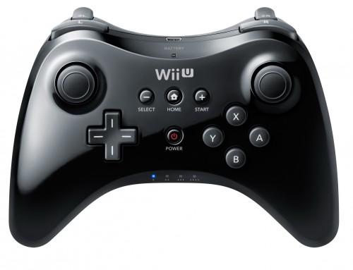 Wii U, pro controller, noir