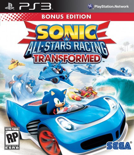 sonic all stars racing transformed, jaquette, ps3