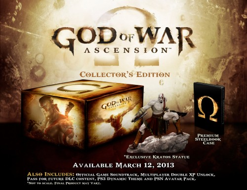 god of war ascension, collector, ps3