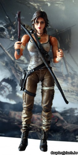 tomb raider,collector,déballage,lara croft,figurine,survival kit