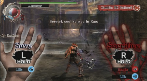 soul sacrifice,test,ps vita,sony
