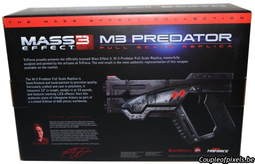 m3 predator,triforce,réplique,mass effect