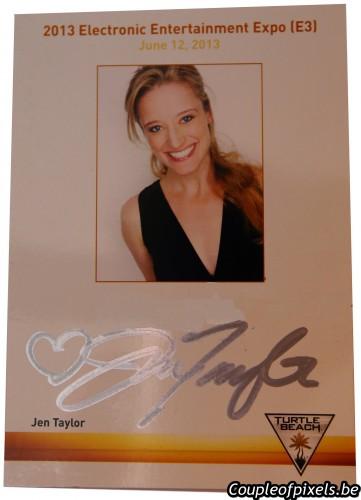e3 2013,dédicaces, Jen Taylor