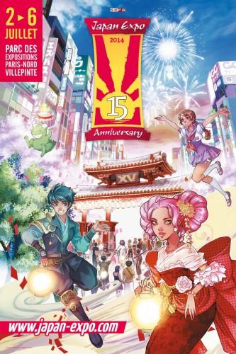 japan expo 2014,15 ans,15eme impact, présentation,