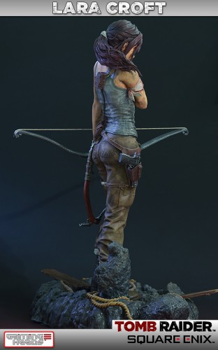 gaming heads,figurine,lara croft,tomb raider,craquage