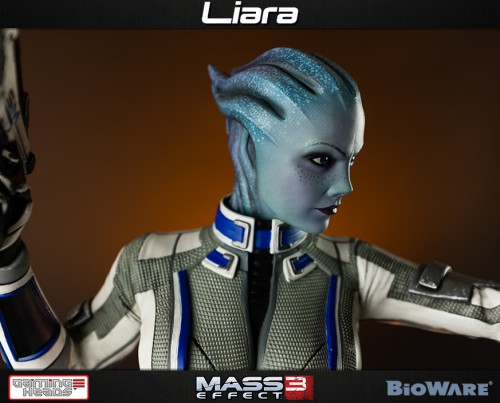 gaming heads,liara,mass effect,figurine,statuette