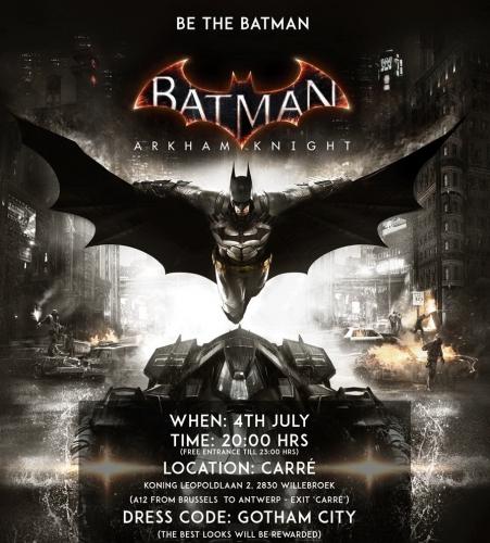 batman arkham knight,soirée,concours,carré