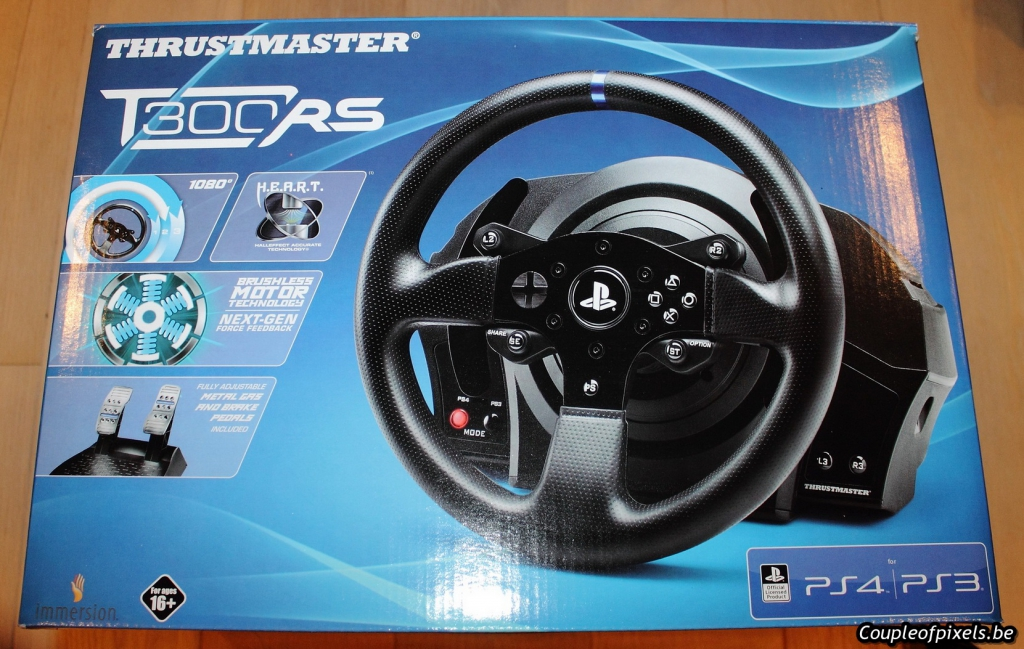 test le volant thrustmaster t300rs le meilleur ami du pilote virtuel couple of pixels. Black Bedroom Furniture Sets. Home Design Ideas