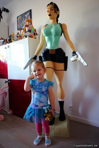 lara croft,statue,taille réelle,facts 2015,achats,craquages,dédicaces
