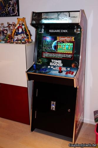 borne,arcade,tomb raider,lara croft,arcade treasures,craquage,avis,présentation