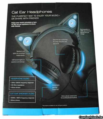 casque audio,axent wear,oreilles de chat,avis,headphones