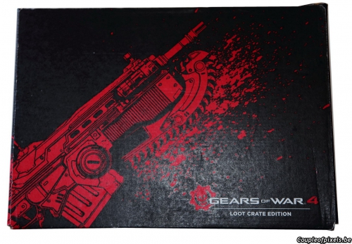 gears of war 4,loot crate edition,déballage,goodies
