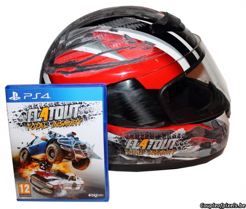 flatout 4,total insanity,déballage,unboxing,kit presse,press kit,casque