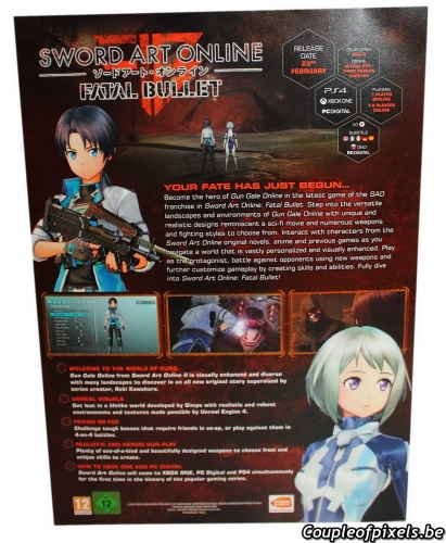 sword art online,fatal bullet,déballage,unboxing,kit presse,press kit
