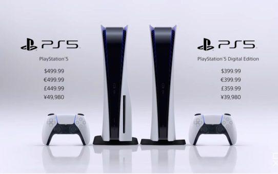 PS5 Prix et date de sortie