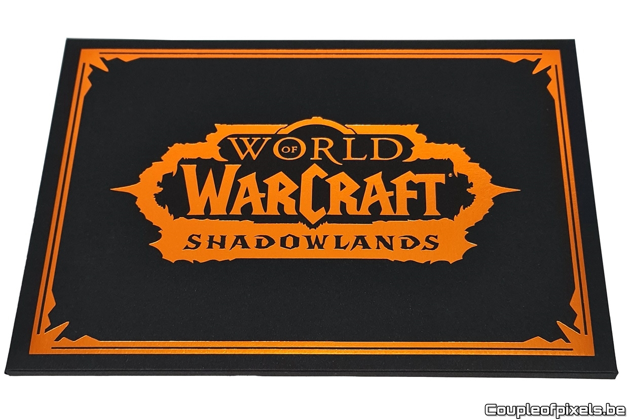Déballage press kit World of Warcraft Shadowlands