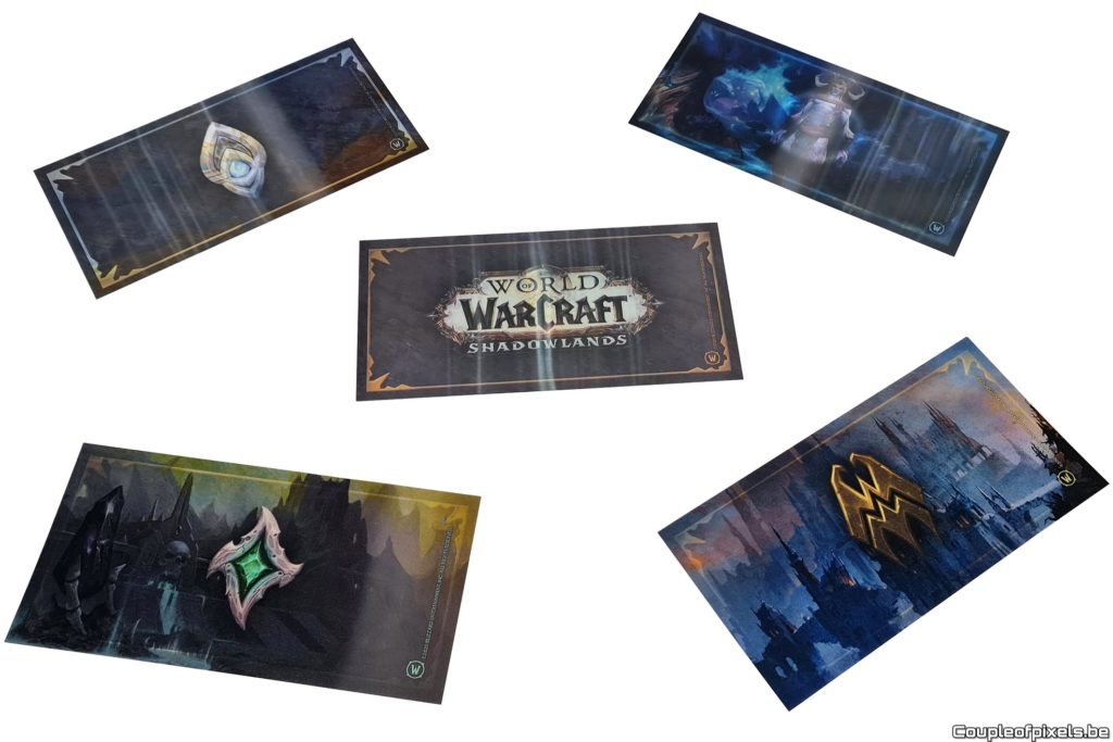 Déballage press kit World of Warcraft Shadowlands